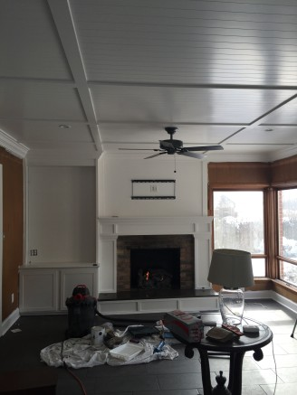 Crown Molding around room, and all time painted white.