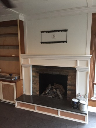 Trim under the hearth