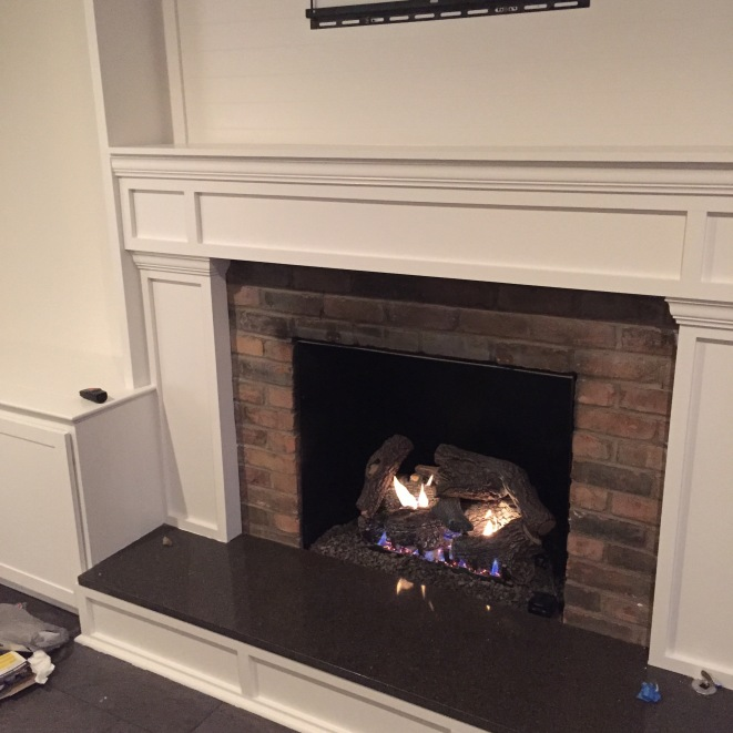 Testing out the Gas fireplace.